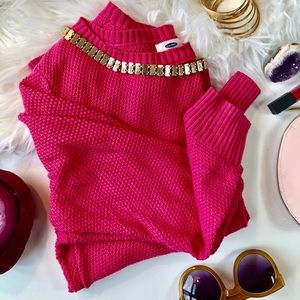 Old Navy Pink Chunky Knit Sweater - Size XL (EUC)
